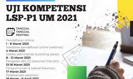 Pengumuman Uji Kompetensi Mahasiswa UM Batch #01 Tahun 2021