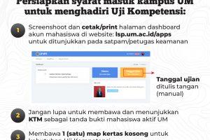 syarat mahasiswa masuk UM untuk ujikom – feed instagram